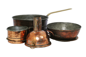 Antique Patina Copper Bowls