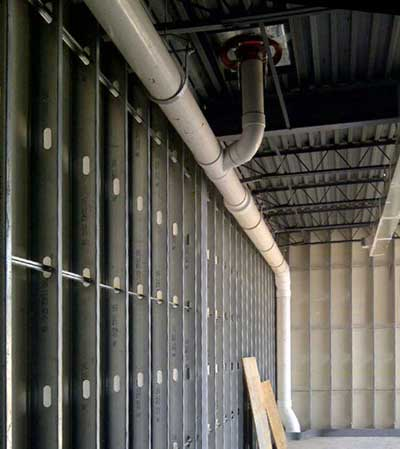 Larger air conditioning chiller installation