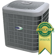 Carrier Infinity series central air conditioner